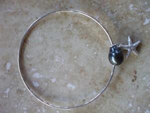 Tahitian pearl bangle