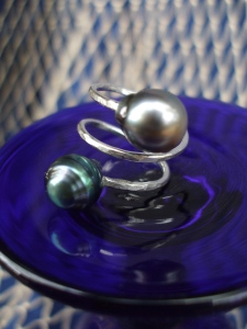 Double Tahitain Pearl Ring