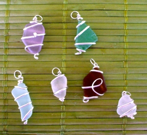 Hawaiian Beach Glass pendants