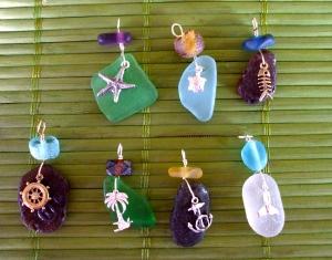 Hawaiian Beach Glass Pendants