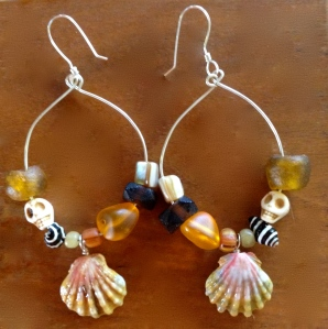 Hawaiian Sunrise Shell Earrings