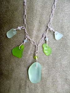 North Shore Beach Glass Necklace