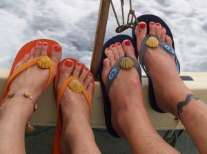 Hawaiian Sunrise Shell Slipper Clips