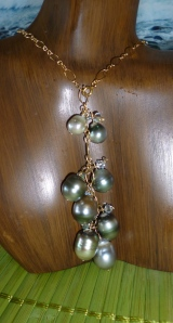 Tahitian Pearl Cluster Necklace